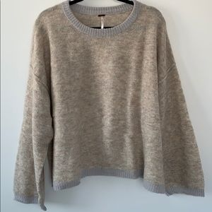 Free People boxy alpaca wool sweater